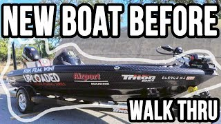 Need Your Advice - Bass Boat Walk Thru BEFORE