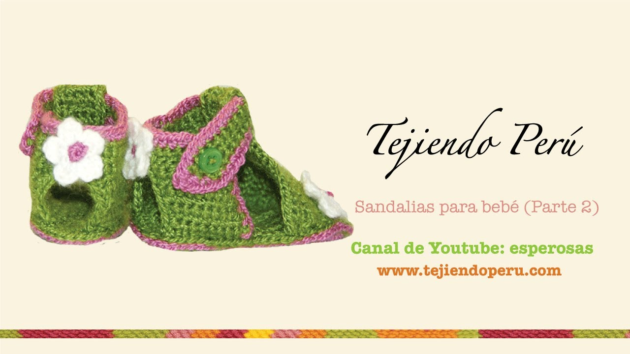 07311b28 Sandalias para bebe - Tejiendo Perú