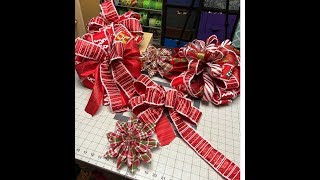 How to make a Christmas tree bow and ribbon poinsettias https://har...
