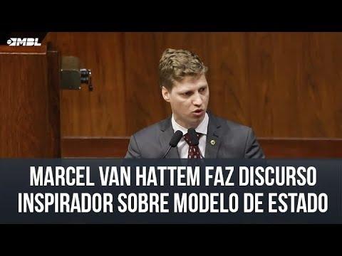 Marcel Van Hattem faz discurso inspirador sobre modelo de estado