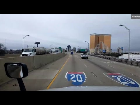 BigRigTravels LIVE! Jackson, Mississippi to Shreveport, Louisiana Interstate 20 West-Feb. 9, 2018