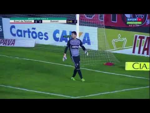 Brasil de Pelotas 1 X 0 Guarani- Melhores Momentos- Série B- 11/08/2017