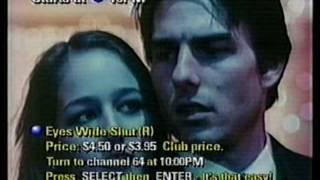 Cablevision promo for Eyes Wide Shut on Pay Per View 1999