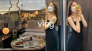 빈부격차 쩌는 Vlog |이태원 루프탑 라운지| 청담 …