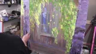 Березки у окна , научиться рисовать, уроки живописи, Сахаров