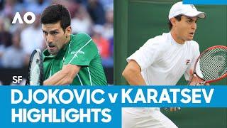 Novak Djokovic vs Aslan Karatsev Match Highlights (SF) | Australian Open 2021
