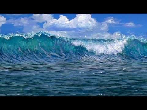 How To Paint A Beach Wave - Acrylics - YouTube