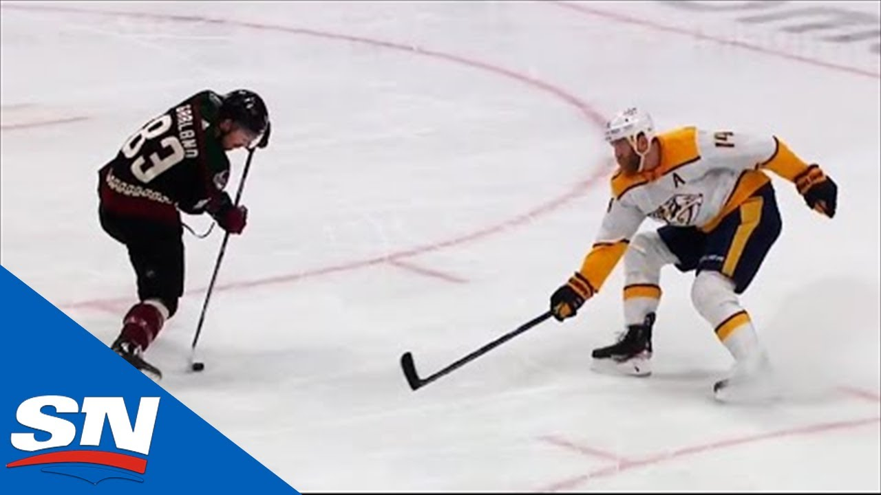 Conor Garland Pulls Off Filthy Toe-Drag Around Mattias Ekholm And Scores