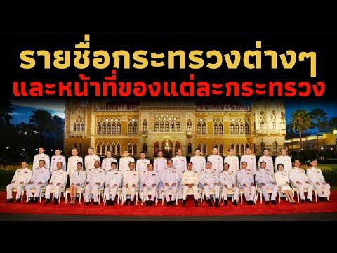 รายชื่อกระทรวงต่างๆในประเทศไทย และหน้าที่ของแต่ละกระทรวง (ประเทศไทยมีกี่กระทรวง?)