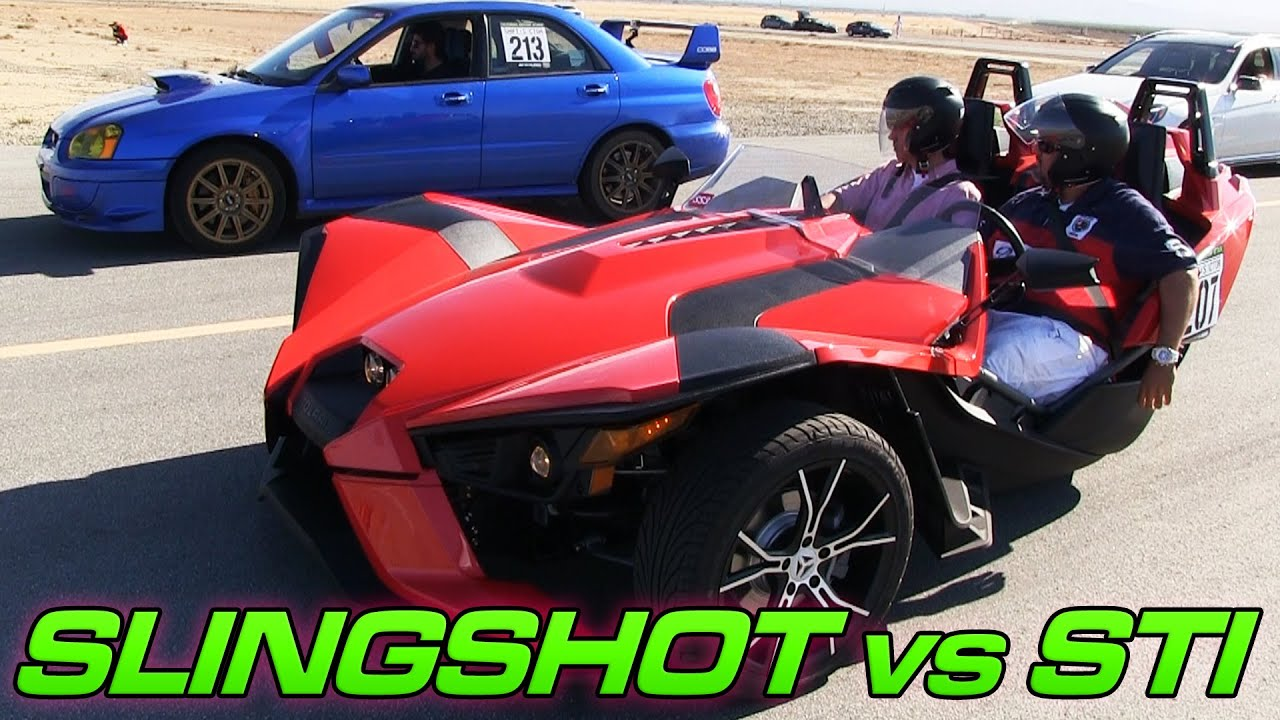 polaris slingshot vs subaru wrx sti youtube. Black Bedroom Furniture Sets. Home Design Ideas