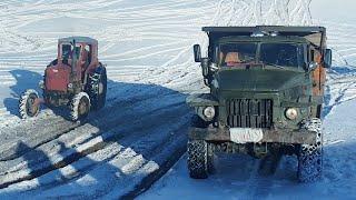 Сравнение в подъеме | Грузовик Урал 6х6 или Трактор Т-40 4х4 ???