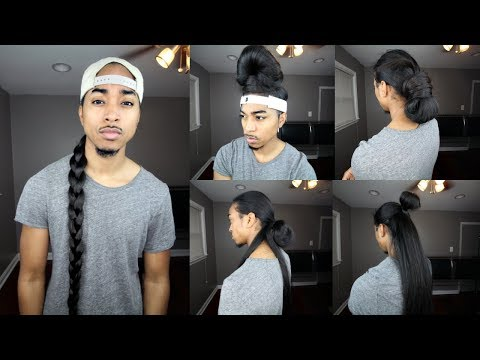 Quick Hairstyles with Long Straight Hair | Men Hairstyles