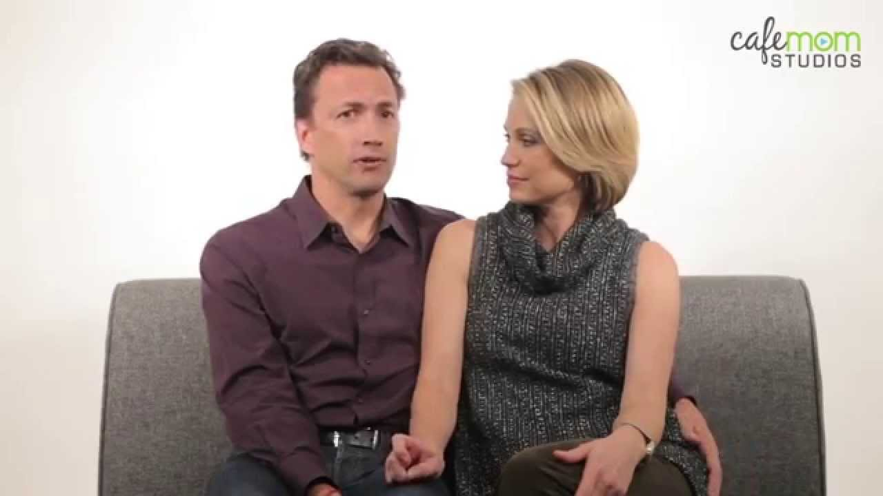 amy robach and andrew shue share advice for couples facing