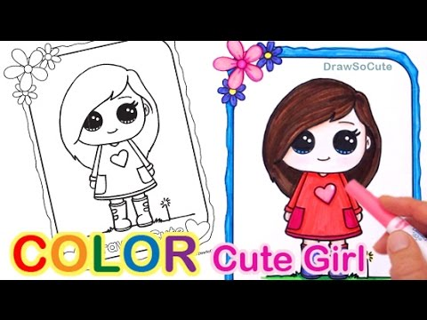 How To Draw A Girl Easy Step By Step Cute