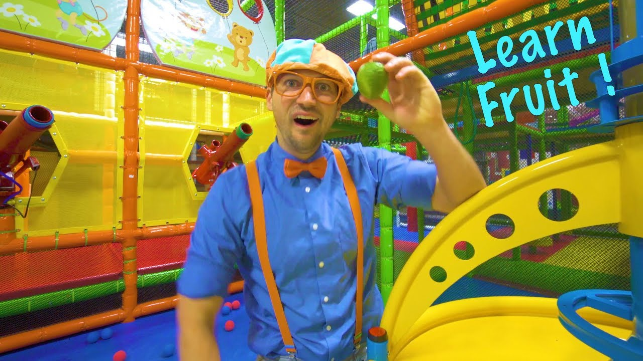 Play At The Play Place With Blippi Learn Fruit And Healthy Eating For Children Youtube