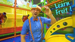 Play at the Play Place with Blippi | Learn Fruit and Healthy Eating for Children thumbnail