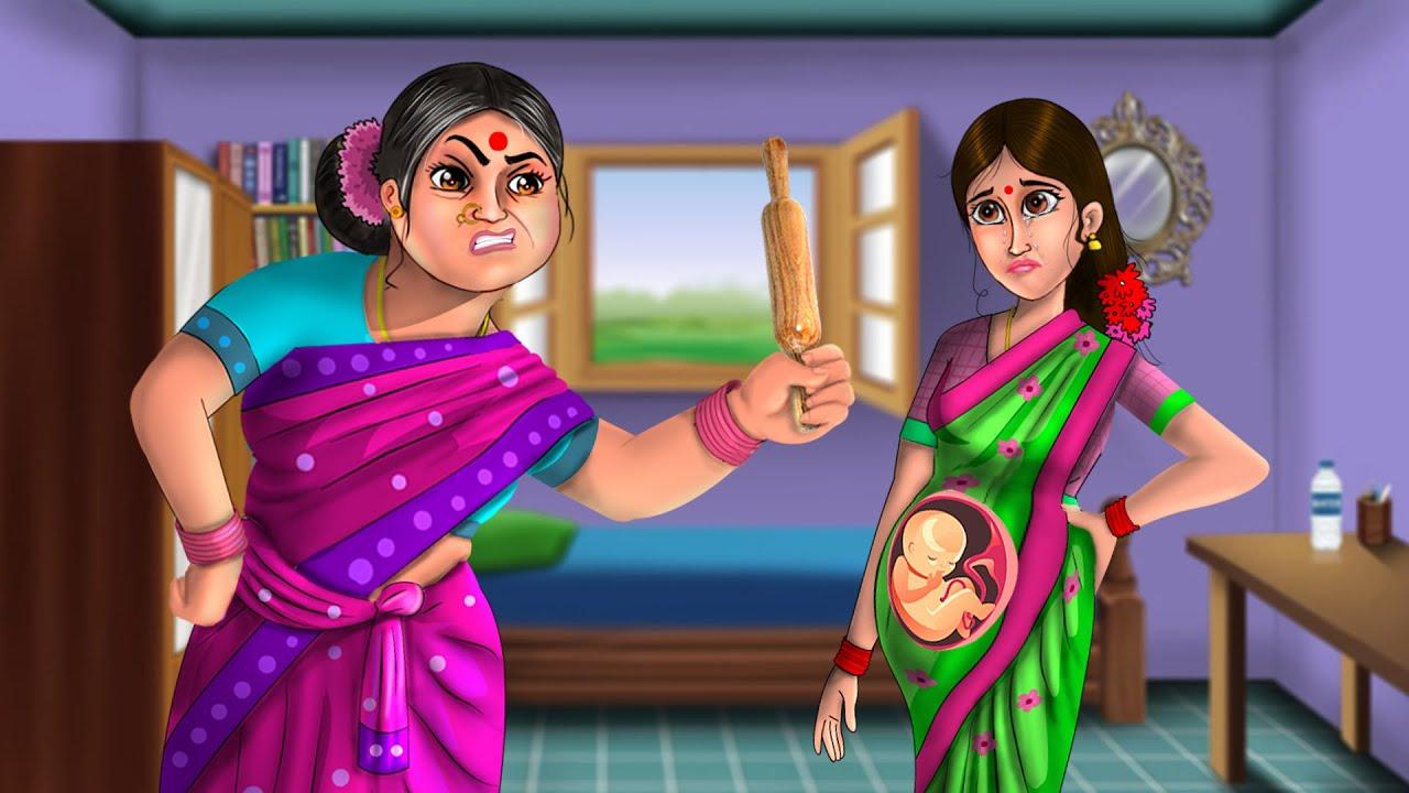 Download గయ్యాళి అత్త గర్బవతి కోడలు | Atha vs Kodalu Kathalu | Gayyali atta Garbavati Kodalu | telugu moral