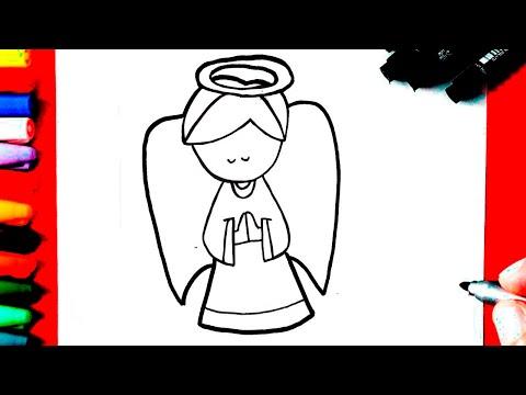 Como Desenhar Um Anjo Super Fácil