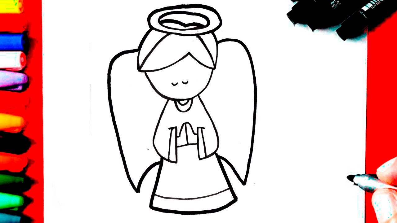 Como Desenhar Um Anjo Super Facil Youtube