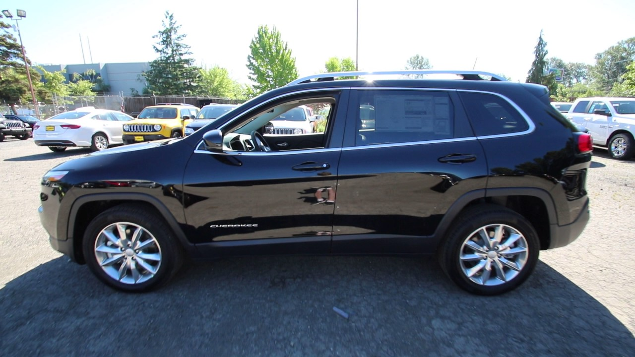 2017 Jeep Cherokee Limited Diamond Black Hw663282 Redmond Seattle