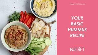 Easy Classic Hummus Recipe Video | Naughty Nutrition