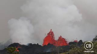 Kilauea Lava Flow Activity In Lower Puna Hawaii May 20, 2018