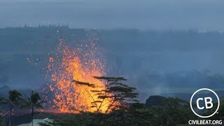 Live Video: Kilauea Lava Flow Activity In Lower Puna Hawaii