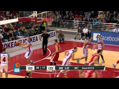 Highlights: Igokea - Cedevita [ABA – Round 14] [13/12/2015]
