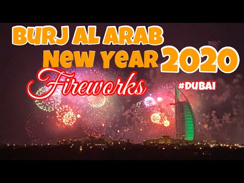 BURJ AL ARAB NEW YEAR FIREWORKS 2020 (DUBAI)