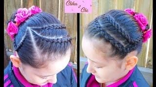 Mixed Headband into a Bun | Sport and Dance Hairstyles | Braided Hairstyles | Braided Headband