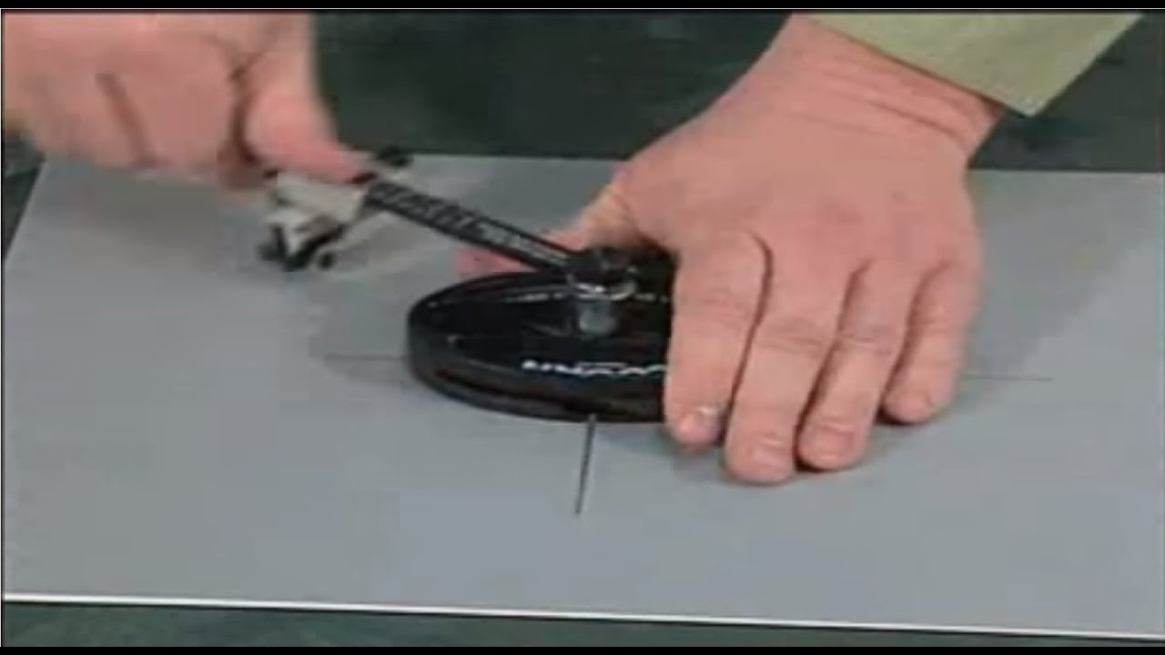 Logan 201 Oval Amp Circle Mat Cutter Usage Video By