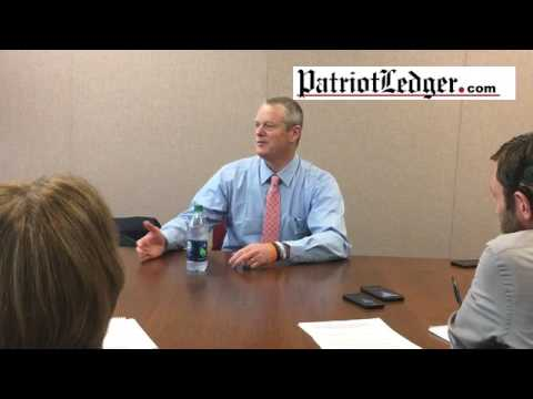 Gov. Charlie Baker talks Weymouth compressor station, opioid addiction and new wiretapping laws at T