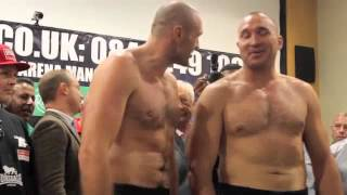TYSON FURY v ALEXANDER USTINOV - OFFICIAL WEIGH IN (MANCHESTER)
