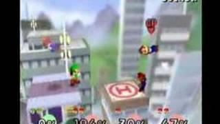 Super Smash Bros. - Mario (me) vs. Mario, Mario and Mario