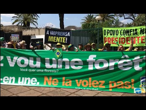 AFP news agency: Protest outside French embassy in Brasilia | AFP
