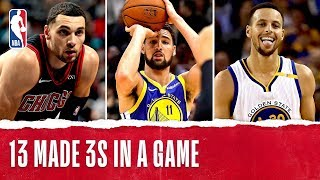LaVine Becomes 3rd Player in NBA History With 13+ 3PM!