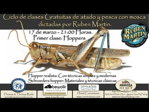 Clase 1 de atado y pesca con mosca en vivo - Hoppers