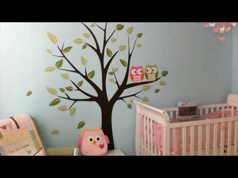 Butterfly Bird Owl Tree Removable Vinyl Decal Wall Stickers Kid Room