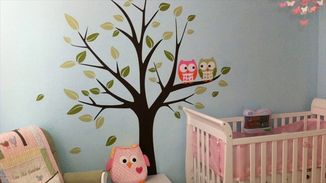 Kids room wall decor stickers - Butterfly Bird Owl Tree Removable Vinyl Decal Wall Stickers Kid Room Youtube