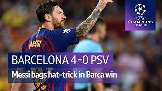 Barcelona vs PSV (4-0) UEFA Champions League Highlights