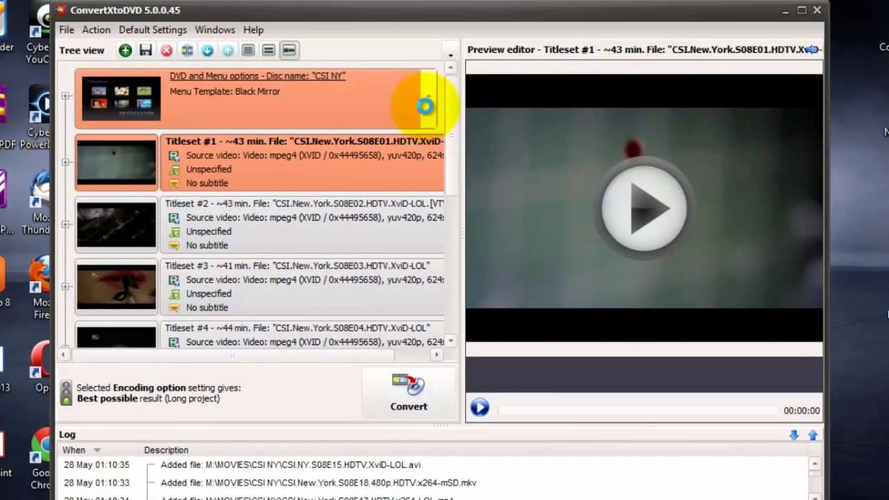 convert x to dvd 720p