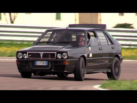 +480 HP Lancia Delta 16V by Area51 Motorsport - Track action, fly bys, on board & sound