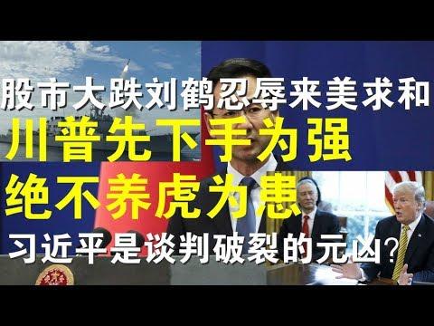 政论:股市大跌刘鹤忍辱来美求和、川普先下手为强绝不养虎为患、习近平是谈判破裂的元凶?