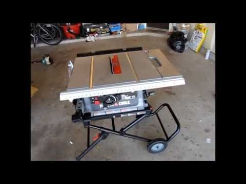 Diy Tools Series Porter Cable Pcb220ts Table Saw Youtube