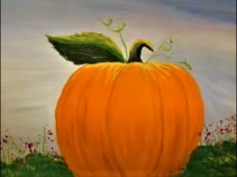 How to paint a halloween Pumpkin with Acrylic paint  Lesson 3