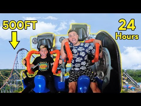 LAST To LEAVE ROLLER COASTER Wins PRIZE! *CHALLENGE*   The Royalty Family
