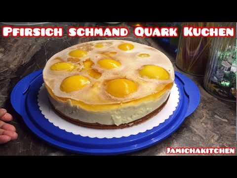 Lecker Pfirsich Schmand Quarkkuchen / Peaches Sourcream Quark Cake 🍰/ German, English Subtitle
