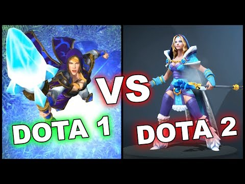 Dota 1 VS Dota 2 ALL HEROES + WarCraft 3 Reforged!