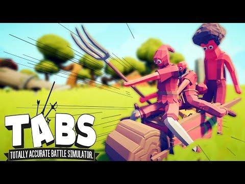 БЕЗБАШЕННЫЕ БАЙКЕРЫ на ТАЧКЕ и Новые СЕКРЕТНЫЕ ЮНИТЫ - Totally Accurate Battle Simulator (TABS/ТАБС)