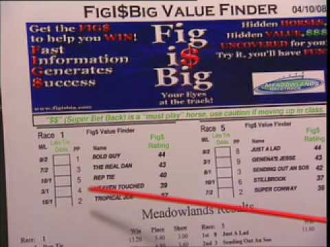 youbet.com How to Use FigIsBig Value Finder and The Fig Book - free from YouBet ...
